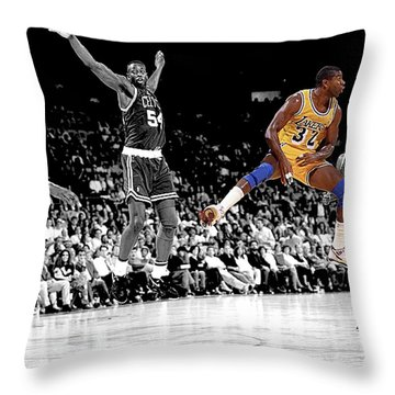 No Look Pass Throw Pillow by Brian Reaves
