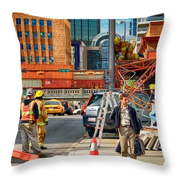 No Parking Anytime Throw Pillow by Trever Miller
