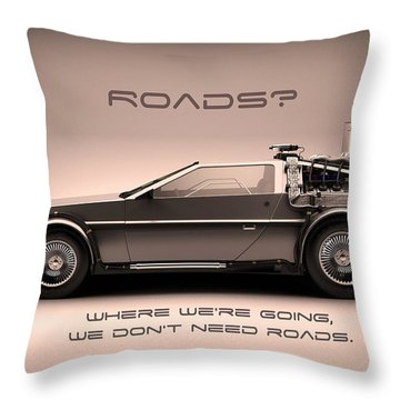 No Roads Throw Pillow by Patrick Charbonneau