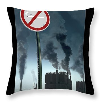 No Smoking Throw Pillow by Mike McGlothlen