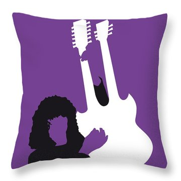 No011 My Led Zeppelin Minimal Music Poster Throw Pillow by Chungkong Art
