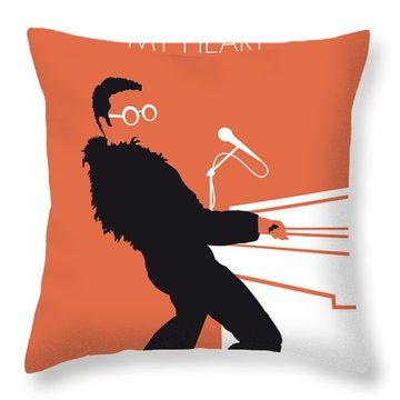 No053 My Elton John Minimal Music Poster Throw Pillow by Chungkong Art