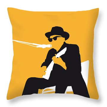 No054 My Johnny Lee Hooker Minimal Music Poster Throw Pillow by Chungkong Art