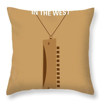 No059 My Once Upon A Time In The West Minimal Movie Poster Throw Pillow by Chungkong Art