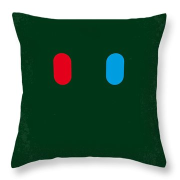 No117 My Matrix Minimal Movie Poster Throw Pillow by Chungkong Art