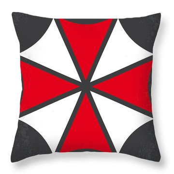 No119 My Resident Evil Minimal Movie Poster Throw Pillow by Chungkong Art