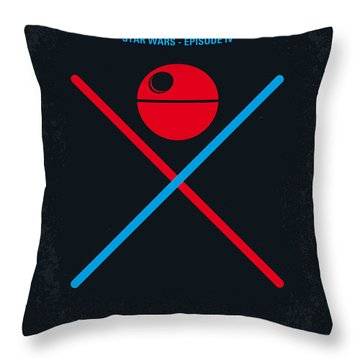 No154 My Star Wars Episode Iv A New Hope Minimal Movie Poster Throw Pillow by Chungkong Art