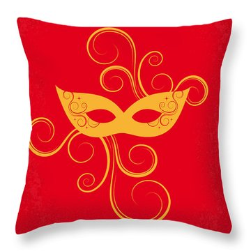 No164 My Eyes Wide Shut Minimal Movie Poster Throw Pillow by Chungkong Art