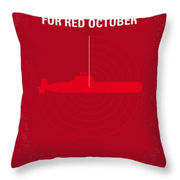 No198 My The Hunt For Red October Minimal Movie Poster Throw Pillow by Chungkong Art