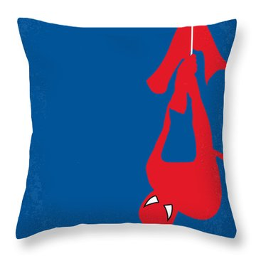 No201 My Spiderman Minimal Movie Poster Throw Pillow by Chungkong Art
