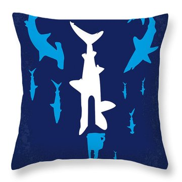 No216 My Sharknado Minimal Movie Poster Throw Pillow by Chungkong Art