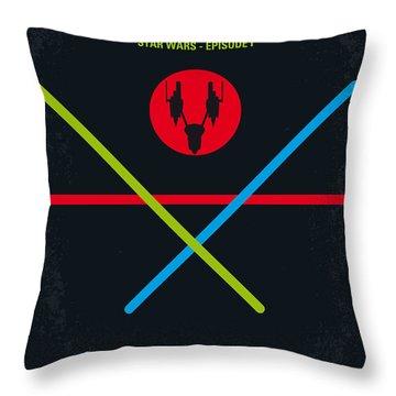 No223 My Star Wars Episode I The Phantom Menace Minimal Movie Poster Throw Pillow by Chungkong Art