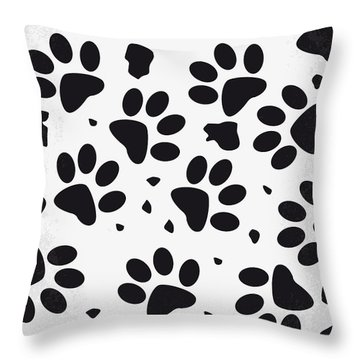 No229 My 101 Dalmatians Minimal Movie Poster Throw Pillow by Chungkong Art