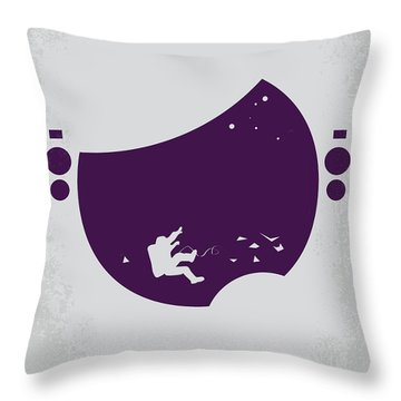 No269 My Gravity Minimal Movie Poster Throw Pillow by Chungkong Art