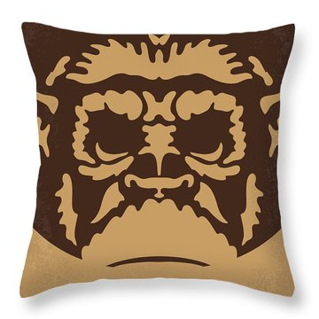 No270 My Planet Of The Apes Minimal Movie Poster Throw Pillow by Chungkong Art