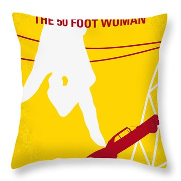 No276 My Attack Of The 50 Foot Woman Minimal Movie Poster Throw Pillow by Chungkong Art