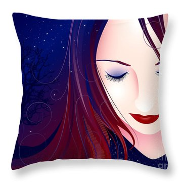 Nocturn II Throw Pillow by Sandra Hoefer