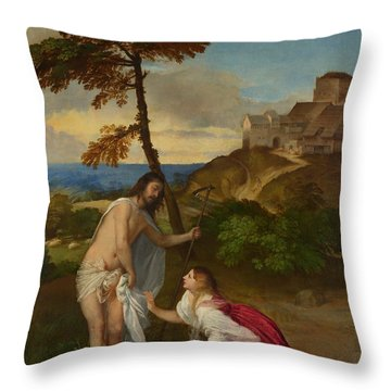 Noli Me Tangere Throw Pillow by Titian