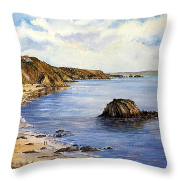 North Beach  Tenby Throw Pillow by Andrew Read