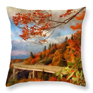 North Carolina  Throw Pillow by Darren Fisher
