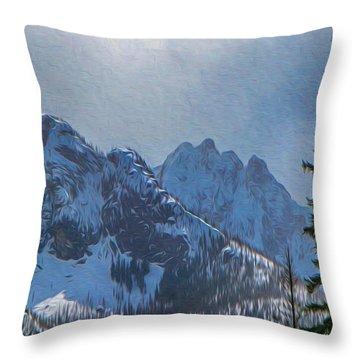 North Cascades Inspiration Throw Pillow by Omaste Witkowski