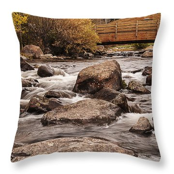 North Inlet And Grand Avenue Bridge Throw Pillow by Lee Kirchhevel