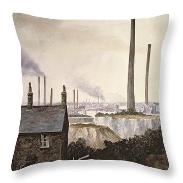 North Kent Landscape  Nr Northfleet Gravesend Throw Pillow by Vic Trevett