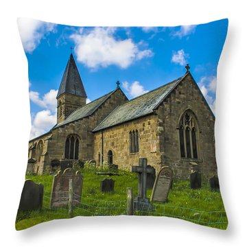 North Otterington Church Throw Pillow by Trevor Kersley