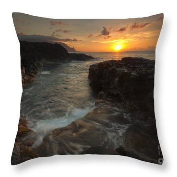 North Shore Paradise Throw Pillow by Mike  Dawson