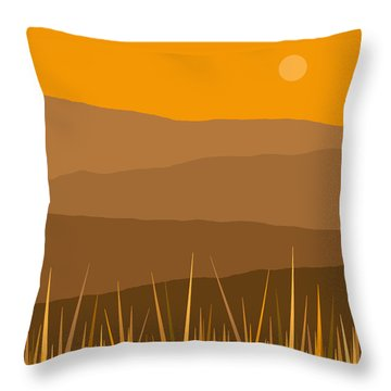 North Throw Pillow by Val Arie