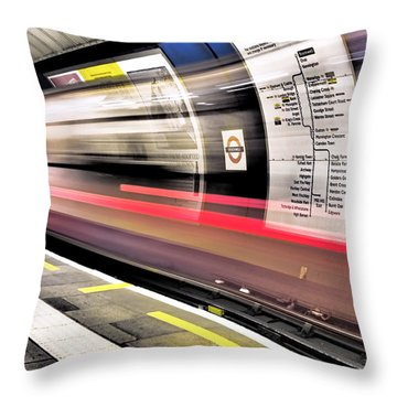 Northbound Underground Throw Pillow by Rona Black