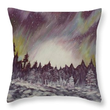 Northern Lights  Throw Pillow by Irina Astley