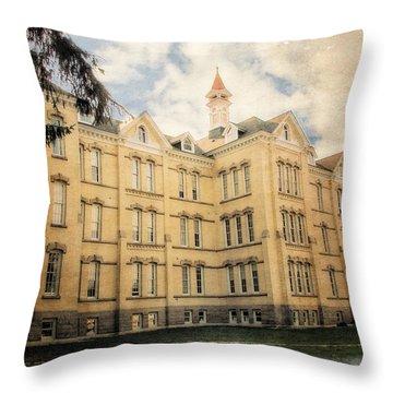 Northern Michigan Asylum Throw Pillow by Michelle Calkins