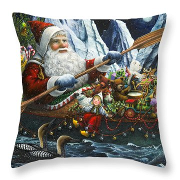 Northern Passage Throw Pillow by Lynn Bywaters