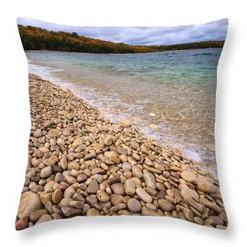 Northern Shores Throw Pillow by Adam Romanowicz