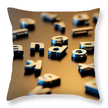 Not So Random Throw Pillow by Lisa Knechtel