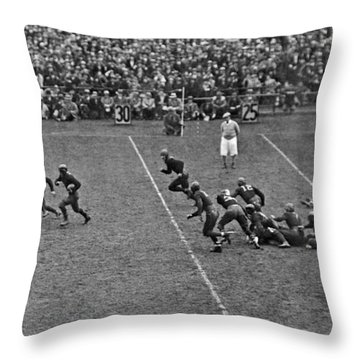 Notre Dame Versus Army Game Throw Pillow by Underwood Archives