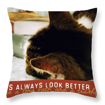 Novel Nap Quote Throw Pillow by JAMART Photography