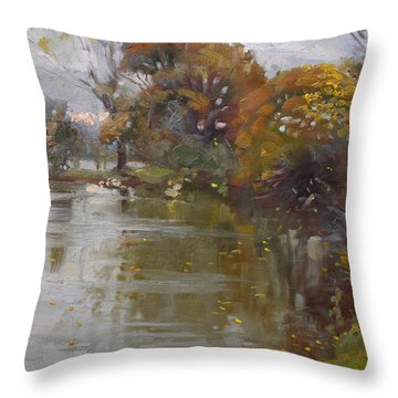 November 4th At Hyde Park Throw Pillow by Ylli Haruni