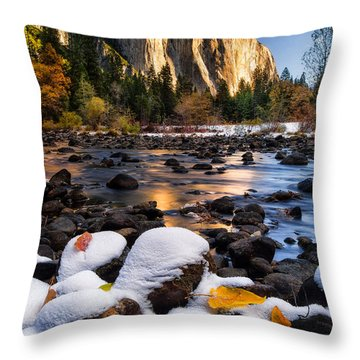 November Morning Throw Pillow by Anthony Bonafede
