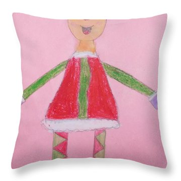 Number One Elf  Throw Pillow by PainterArtist FIN