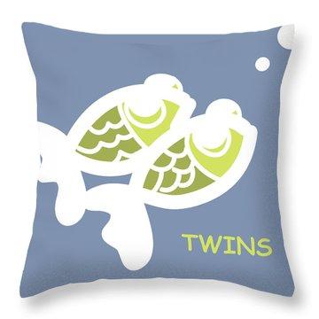 Nursery Wall Art For Twins Throw Pillow by Nursery Art