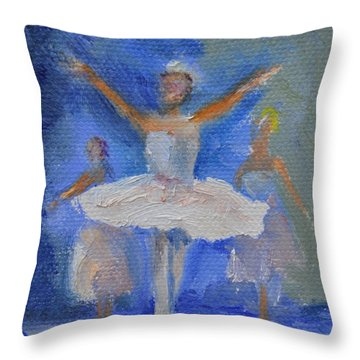 Nutcracker Ballet Throw Pillow by Donna Tuten