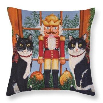 Nutcracker Sweeties Throw Pillow by Beth Clark-McDonal