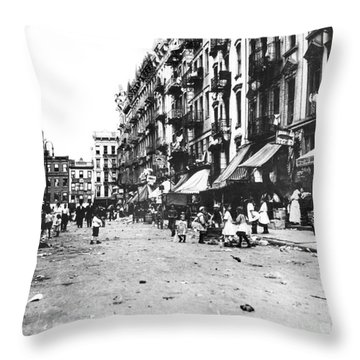 Nyc Lower East Side Throw Pillow by Granger