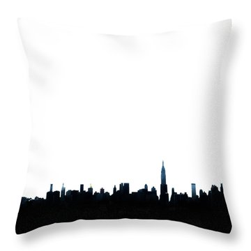 Nyc Silhouette Throw Pillow by Natasha Marco