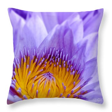 Nymphea Throw Pillow by Delphimages Photo Creations