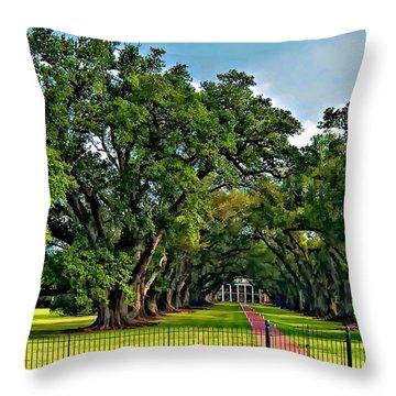 Oak Alley Plantation 2 Throw Pillow by Steve Harrington