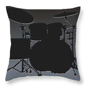 Oakland Raiders Drum Set Throw Pillow by Joe Hamilton