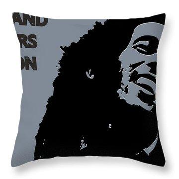 Oakland Raiders Ya Mon Throw Pillow by Joe Hamilton